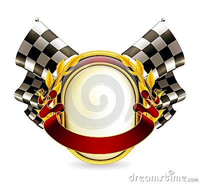 Free Flag Checkered Emblem Stock Images - 20444104