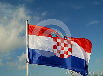 The flag of Croatia