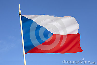 Flag of the Czech Republic - Europe