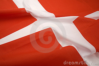 The flag of Denmark