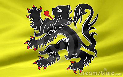 Flag of the flemish community - Belgium