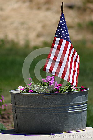 Flag in Flower Pot