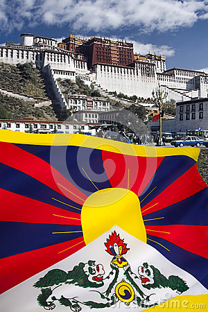 Flag of Free Tibet - Potala Palace
