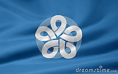 Flag of Fukuoka - Japan