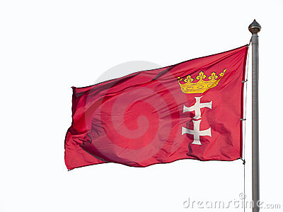 A flag of Gdansk