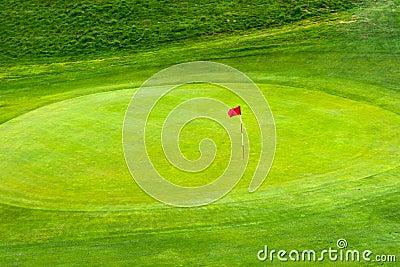 Flag on Golf Green