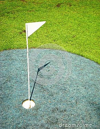 Flag on golfcourse