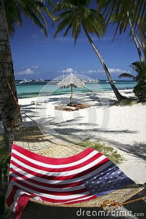 Flag hammock boracay beach philippines