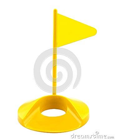 Free Flag Hole Plastic Golf Toy Royalty Free Stock Photo - 45780815