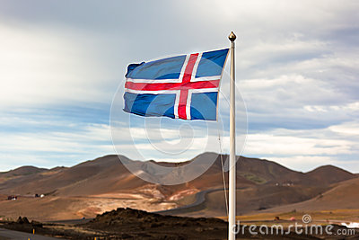 The flag of Iceland