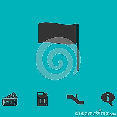 Flag icon flat Vector Illustration