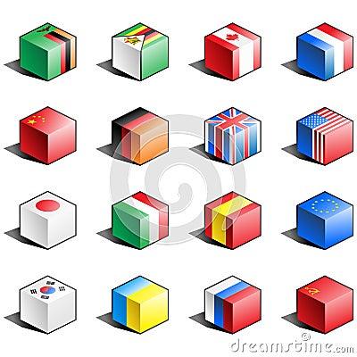 Free Flag Icon Set (part 13) Stock Photo - 14294730
