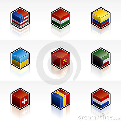 Flag Icons Set - Design Elements 56b