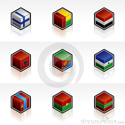 Flag Icons Set - Design Elements 56o