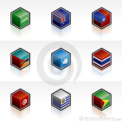 Flag Icons Set - Design Elements 56t