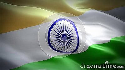 Flag of India. The National Flag of India is a horizontal rectangular tricolour of deep saffron, white and India green; with the Ashoka Chakra, a 24-spoke wheel