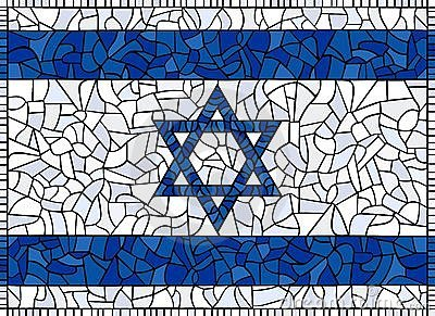 Flag of Israel Stained Glass
