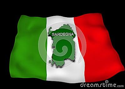 Flag, the Italian region Sardinia,