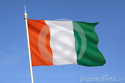 Flag of Ivory Coast - West Africa