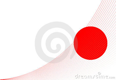 The flag of Japan.
