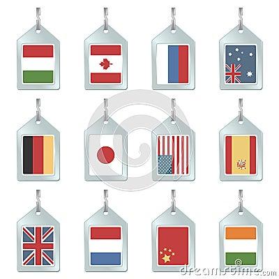 Flag key fobs