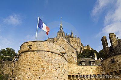 Flag in the Le Mon Sant Michel