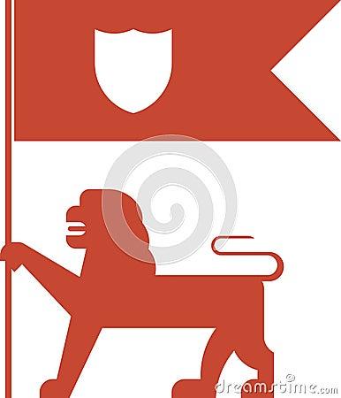 Flag lion