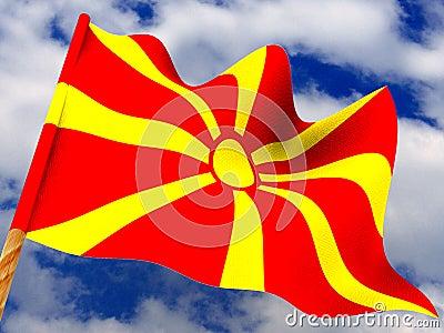 Flag. Macedonia