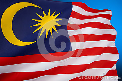 Flag of Malaysia - South East Asia