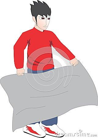 Flag man Stock Photo