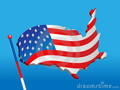Flag from a map USA