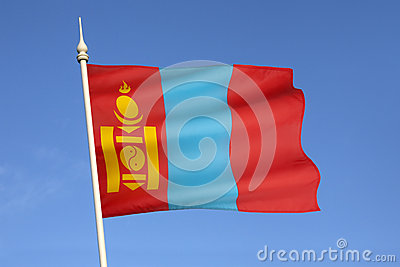 Flag of Mongolia - Central Asia