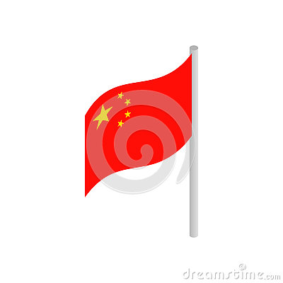 Free Flag Of China Icon, Isometric 3d Style Royalty Free Stock Photo - 79576055