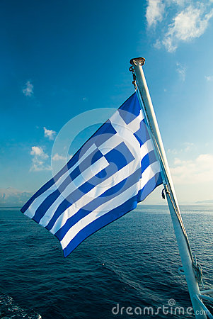 Free Flag Of Greece. Royalty Free Stock Photography - 46143727