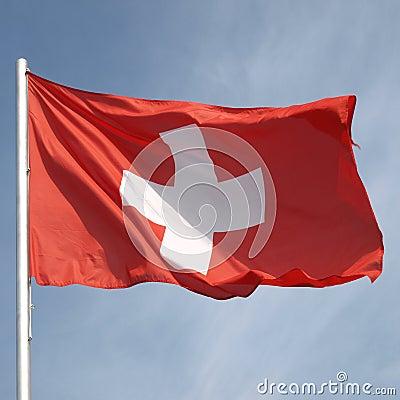 Free Flag Of Switzerland Royalty Free Stock Images - 10756399