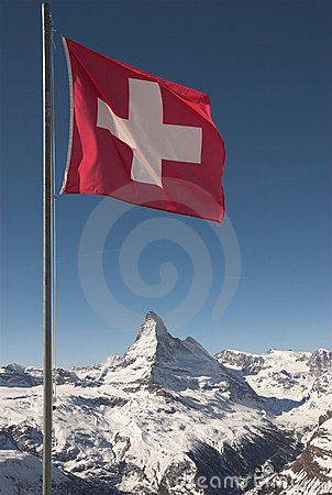 Free Flag Of Switzerland On Mountaintop Stock Photo - 2144910