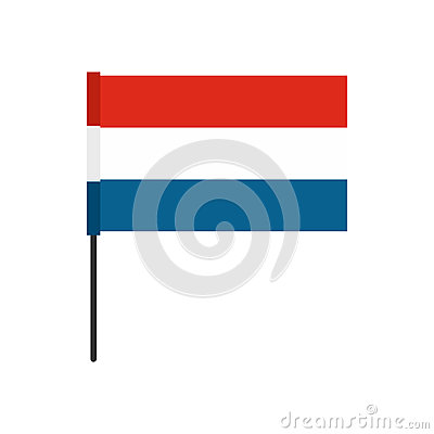 Free Flag Of The Netherlands Icon, Flat Style Stock Images - 82487424