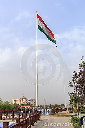 Free Flag Of The Republic Of Tajikistan. Dushanbe Royalty Free Stock Image - 44618986