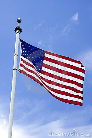Free Flag On A Pole Stock Photo - 3615200