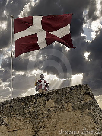The Flag of the Order of St John Editorial Stock Image