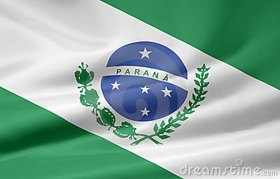 Flag Of Parana Royalty Free Stock Photography - Image: 6645247
