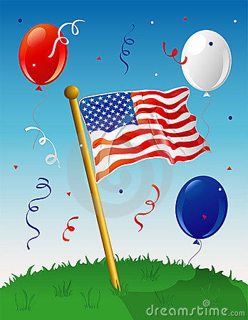 Flag Party background