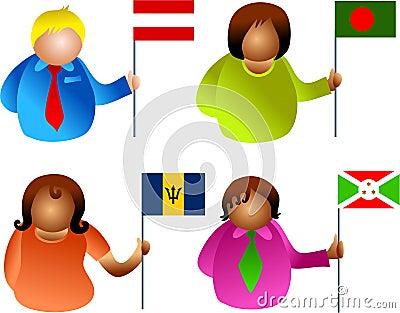 Flag people