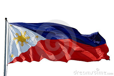 Flag Philippines isolated
