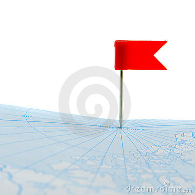 Flag a pin on map isolated