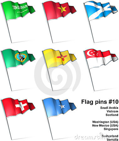 Flag pins #10