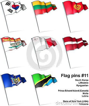 Flag pins #11