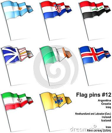 Flag pins #12