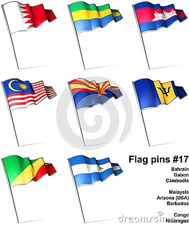 Flag pins #17