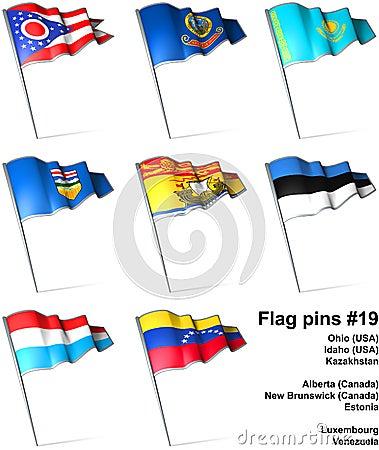 Flag pins #19